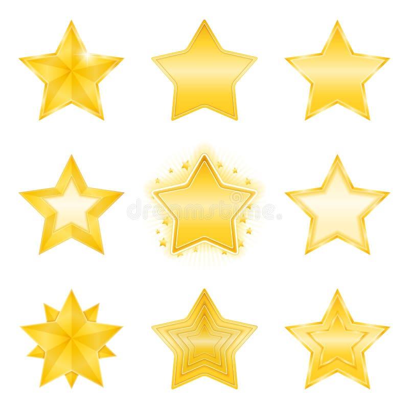 Gwiazd ikony royalty ilustracja