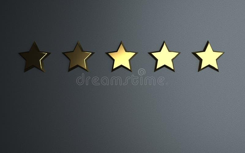 5 gwiazd Oszacowywa? royalty ilustracja