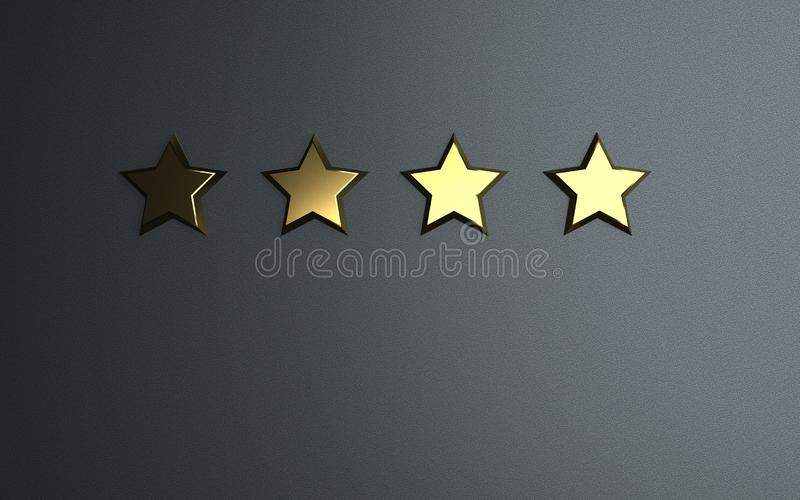 4 gwiazd Oszacowywa? ilustracja wektor