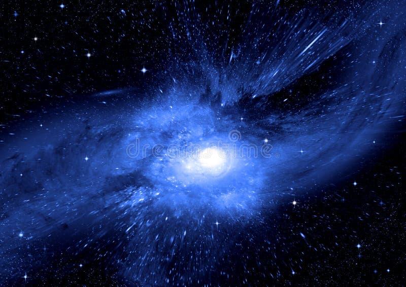 Gwiazd, pyłu i gazu mgławica w dalekim galaxy, obrazy stock