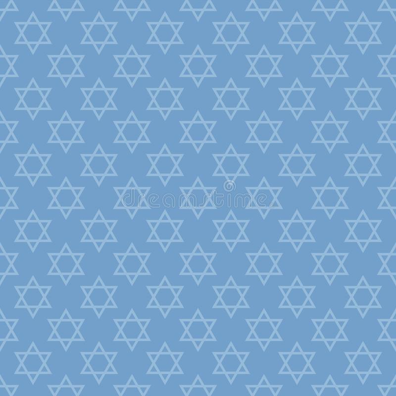 Gwiazda Dawidowa bezszwowy wzór ilustracji