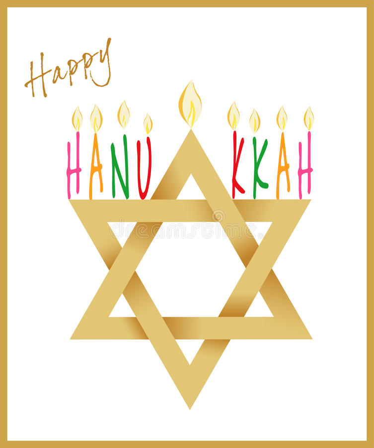 Gwiazda Dawidowa i Menorah dla Hanukkah
