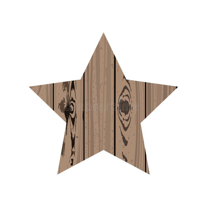 Gwiazda drewno ilustracji