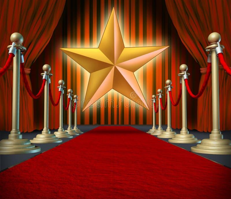 gwiazda filmowa royalty ilustracja