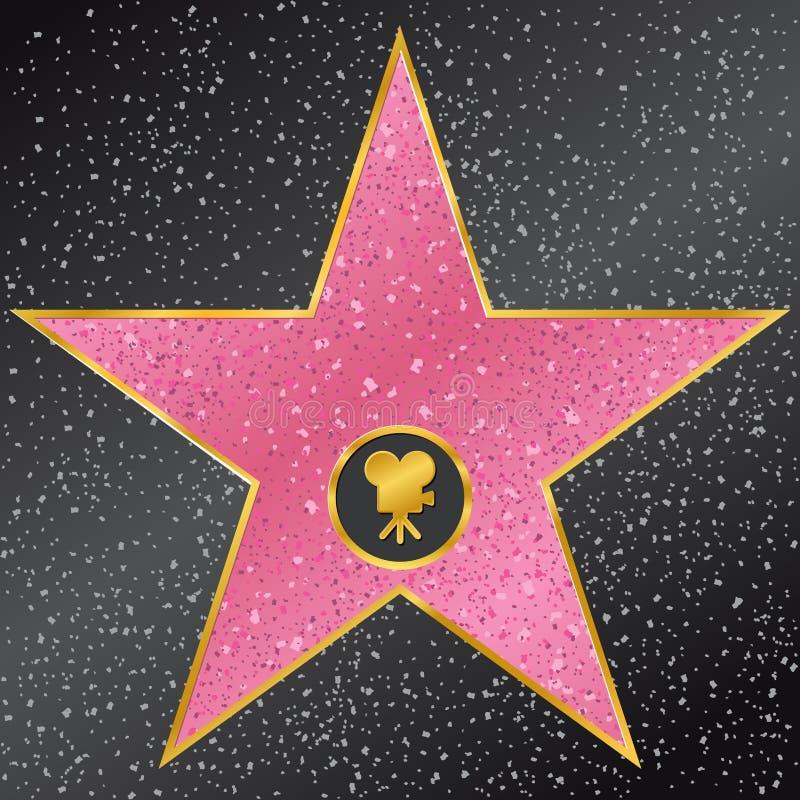 Gwiazda. Hollywood spacer sława ilustracji