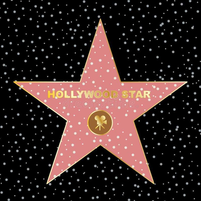 Gwiazda Hollywoodu na osobistości sławie spaceru boukevard ilustracji