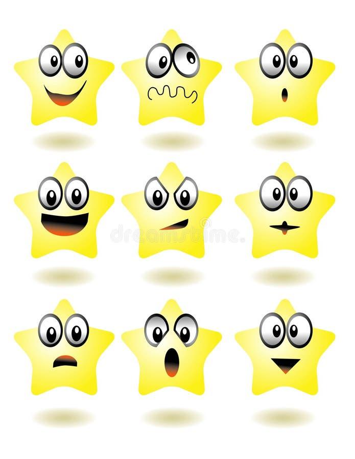 gwiazda ikony royalty ilustracja
