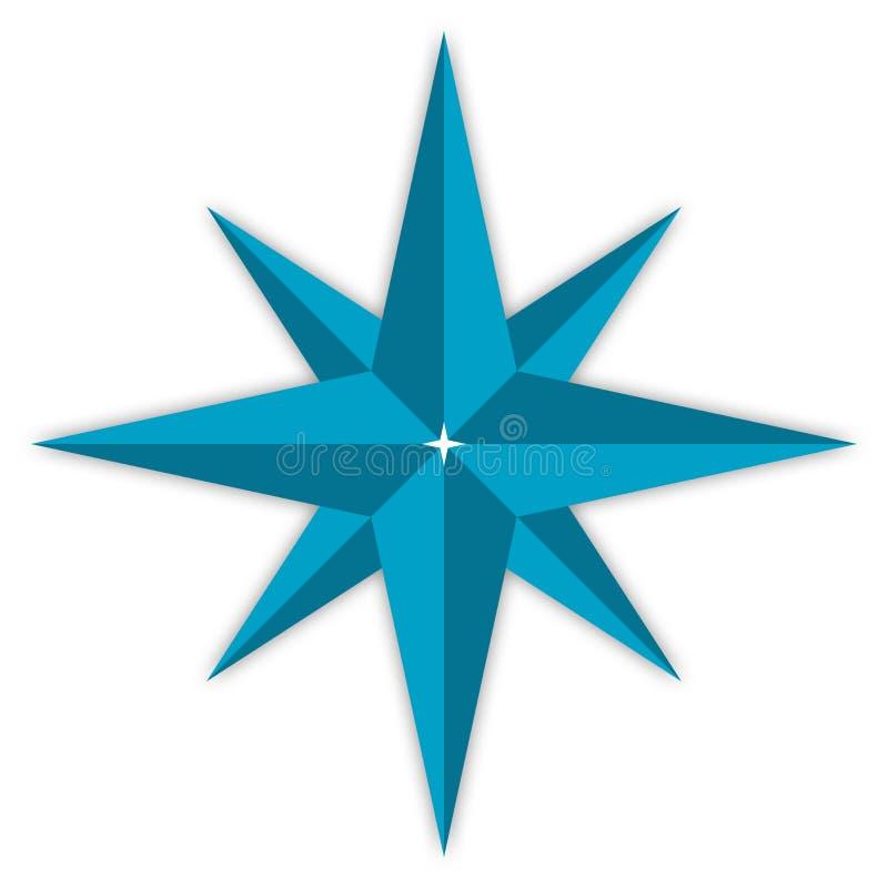 gwiazda kompas. ilustracji