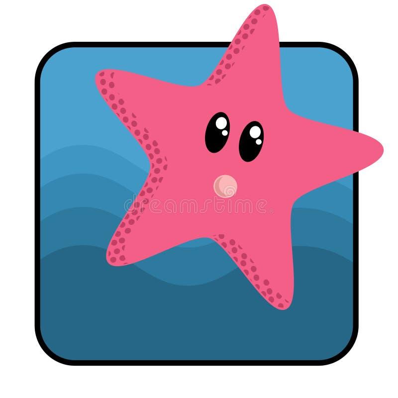 gwiazda kreskówki ryb royalty ilustracja