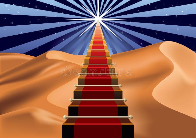 gwiazda kroki royalty ilustracja