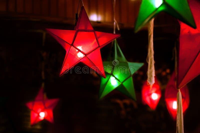 Gwiazda kształtni lampiony zdjęcie stock