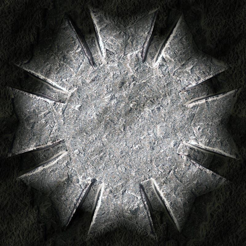Gwiazda kształtujący kamień royalty ilustracja