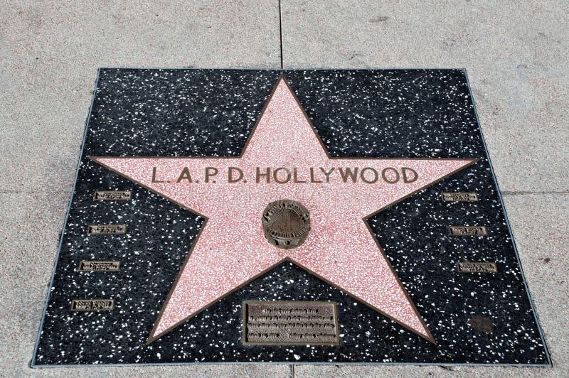 Gwiazda L.A.P.D. obraz stock