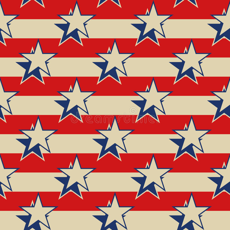 Gwiazda lampasów usa patriotyczny bezszwowy tło ilustracji