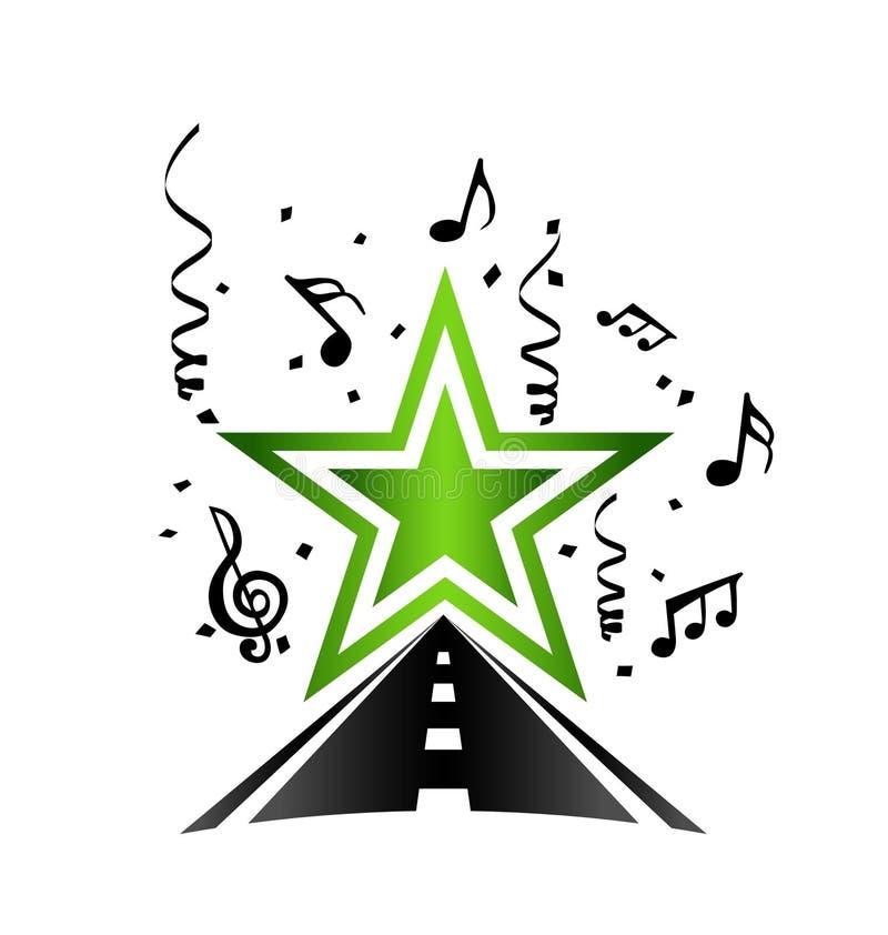 Gwiazda muzyki POP ilustracji