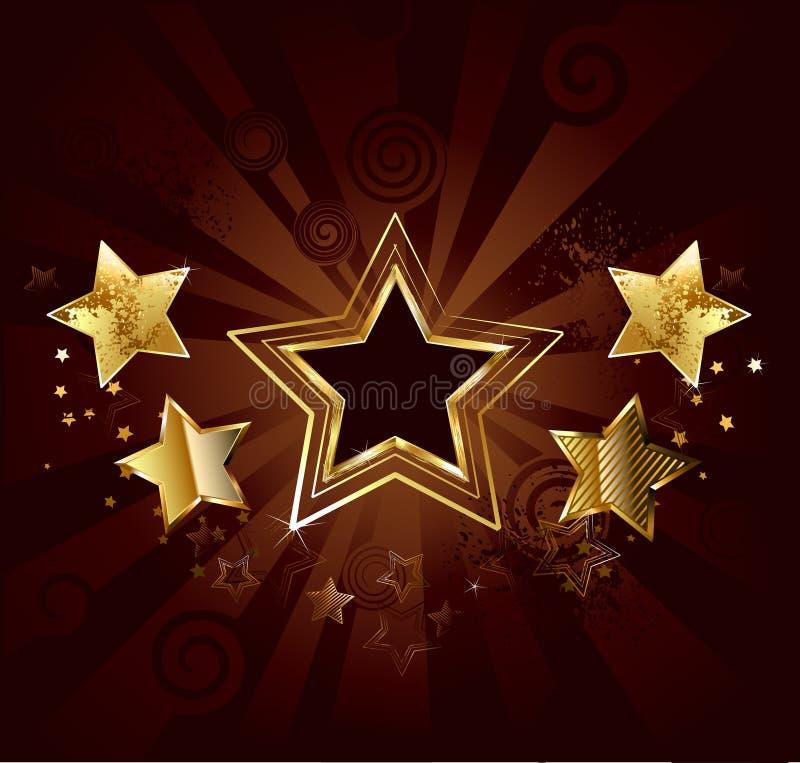 Gwiazda na brown tle ilustracji