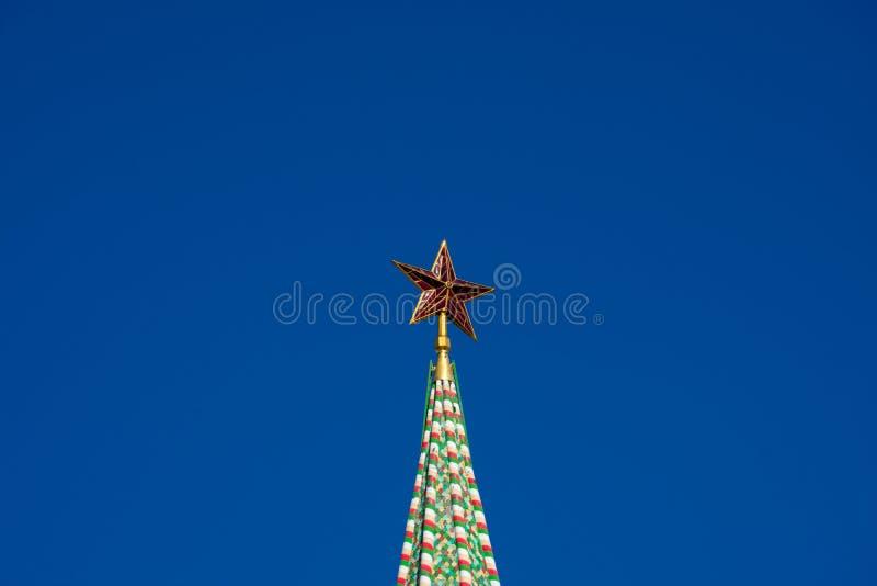 Gwiazda na wierzchołku Spasskaya wierza obrazy stock