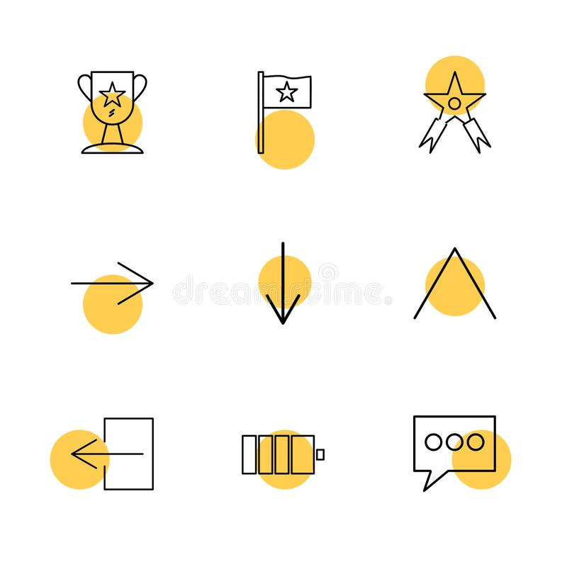 gwiazda, odznaka, messge, strzała, kierunki, avatar, ściąganie royalty ilustracja