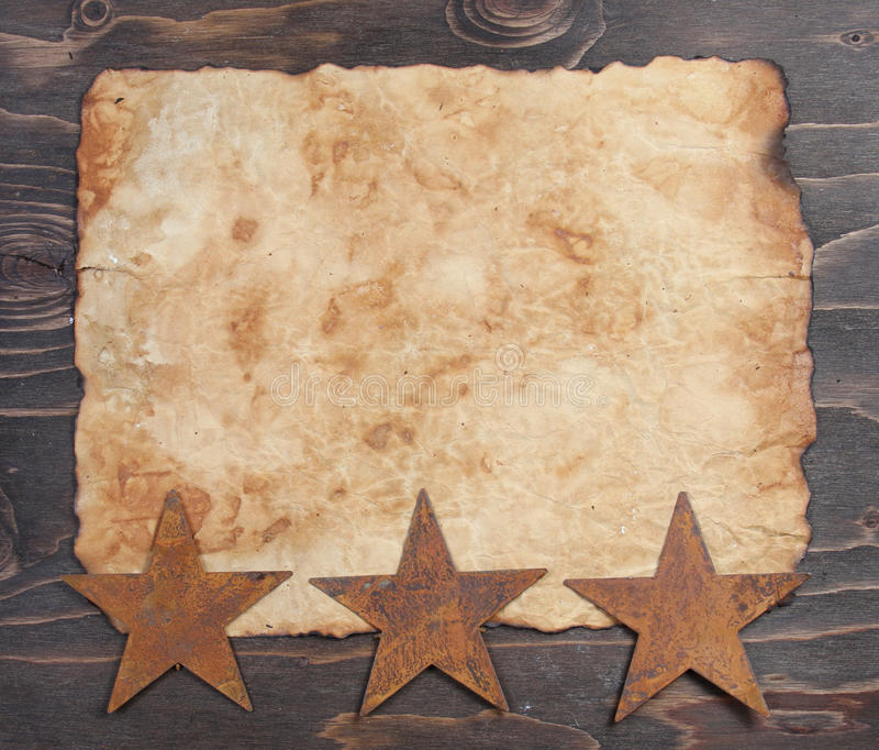 gwiazda papierowy ośniedziały rocznik zdjęcie stock