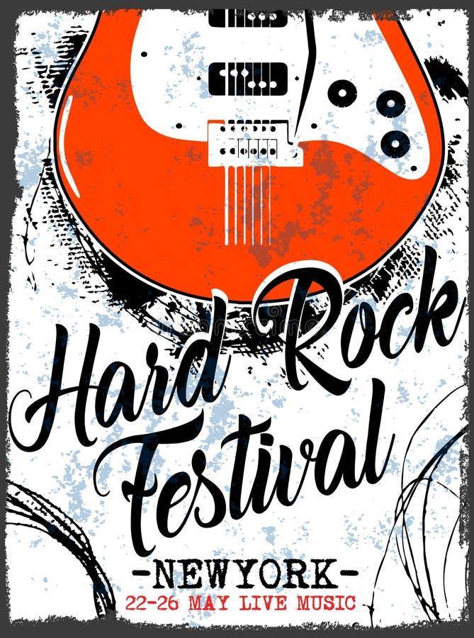 Gwiazda Rocka rocznika rock and roll typograficzny dla koszulki ilustracja wektor