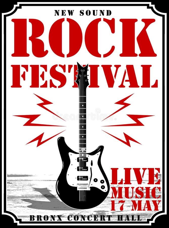 Gwiazda Rocka rocznika rock and roll typograficzny dla koszulki; trójnik royalty ilustracja