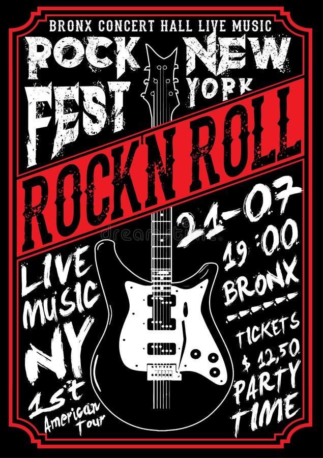 Gwiazda Rocka rocznika rock and roll typograficzny dla koszulki; trójnika des royalty ilustracja