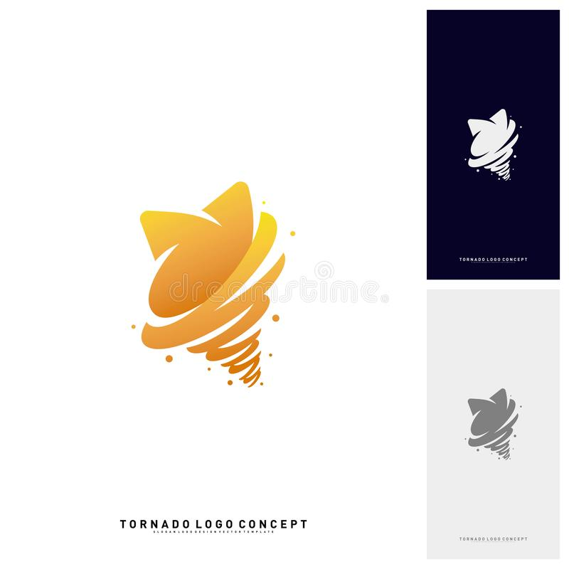 Gwiazda skręta logo projekta pojęcia wektor Burza Gra główna rolę logo wektoru ikonę Tornado Gra główna rolę logo szablon ilustracji