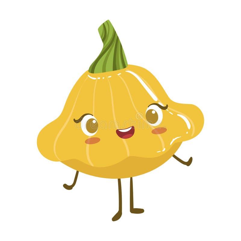 Gwiazda szpika kostnego Anime Kształtnej Ślicznej Zhumanizowanej Uśmiechniętej kreskówki charakteru Emoji wektoru Jarzynowa Karmo ilustracja wektor