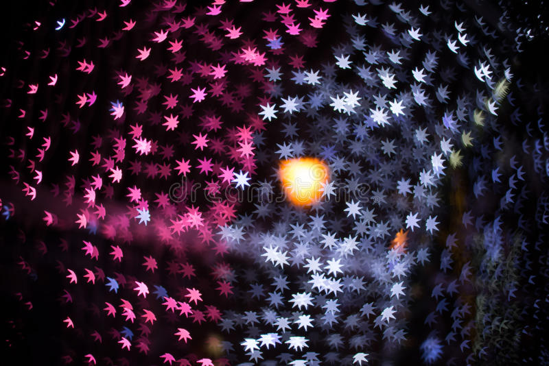 Gwiazda tworzący Bożenarodzeniowy bokeh zdjęcia stock