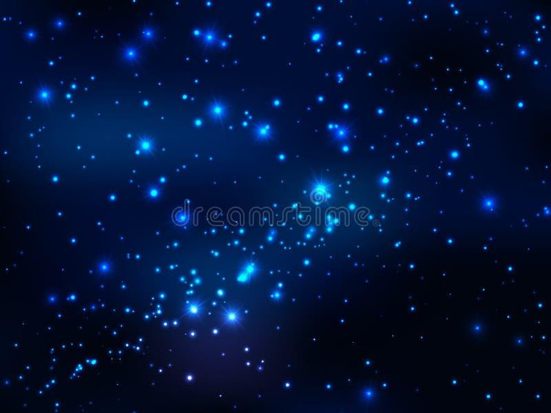 Gwiazda w kosmosie, nocy magii niebo obrazy royalty free