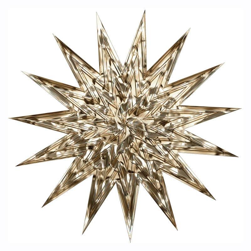 Gwiazda w złocie ilustracja wektor