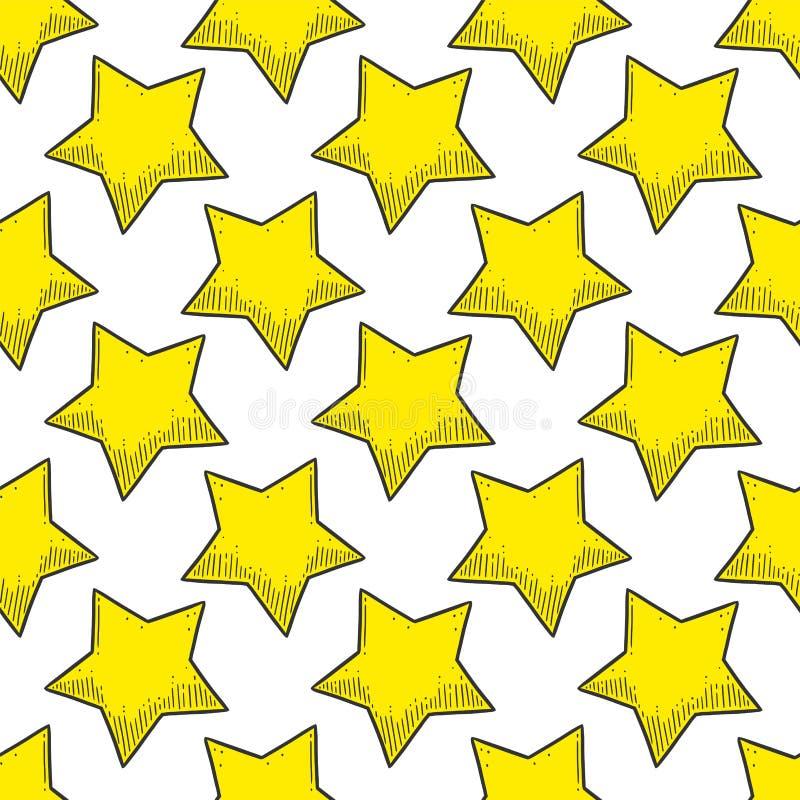 gwiazda Wektorowy pojęcie w doodle i nakreślenia stylu Wręcza patroszoną ilustrację dla drukować na koszulkach, pocztówki royalty ilustracja