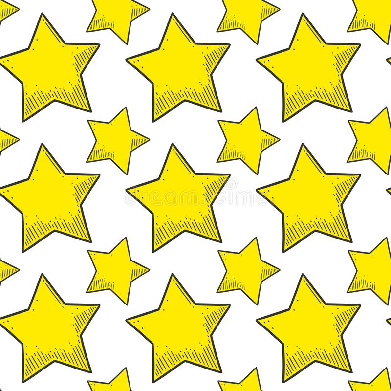 gwiazda Wektorowy pojęcie w doodle i nakreślenia stylu Wręcza patroszoną ilustrację dla drukować na koszulkach, pocztówki ilustracja wektor