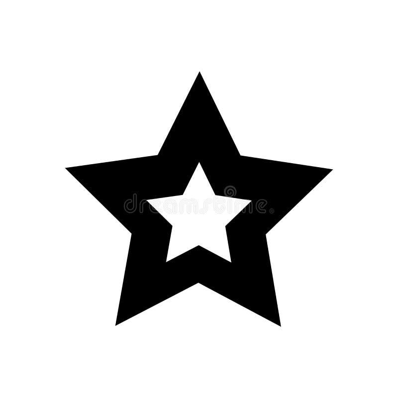 Gwiazda wypełniający kształt ikony wektoru znak, fiveointed symbol odizolowywający na białym tle i, Gwiazdowy wypełniający fiveoi ilustracji