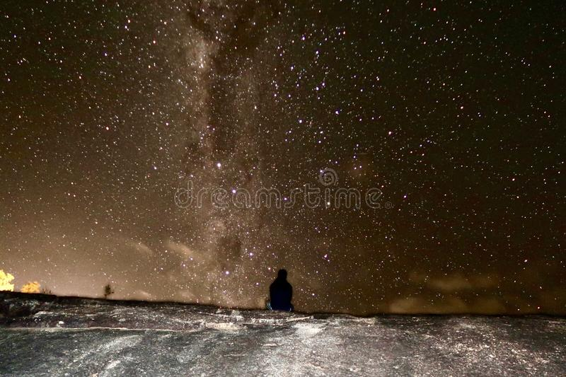 Gwiazda wypełniający niebo zdjęcie stock