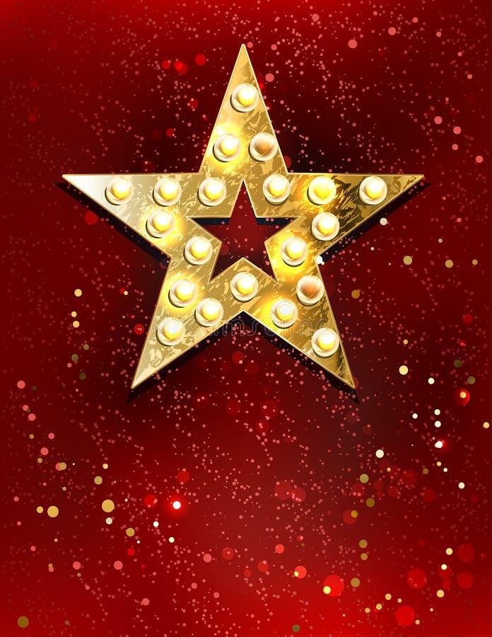Gwiazda z światłami royalty ilustracja