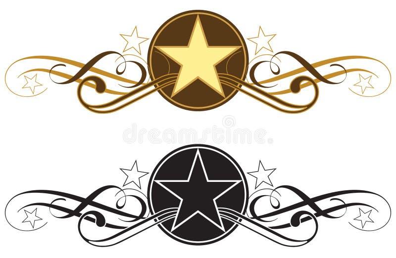 Gwiazdowa ślimacznicy granica - zachodni typ wektoru illustraration ilustracja wektor