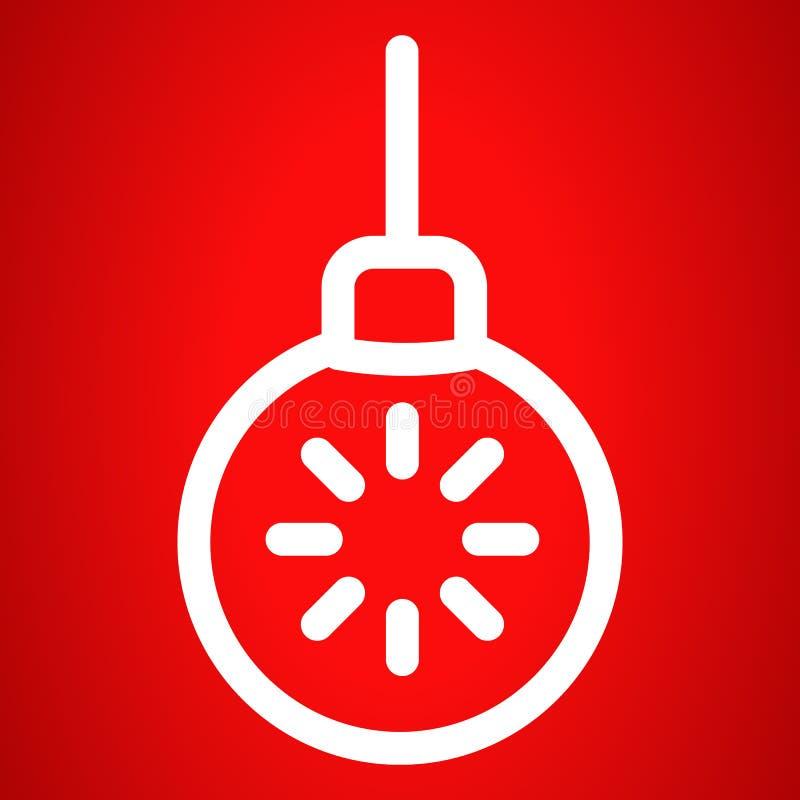 Gwiazdowa balowa drzewo zabawki ikona, konturu styl ilustracji