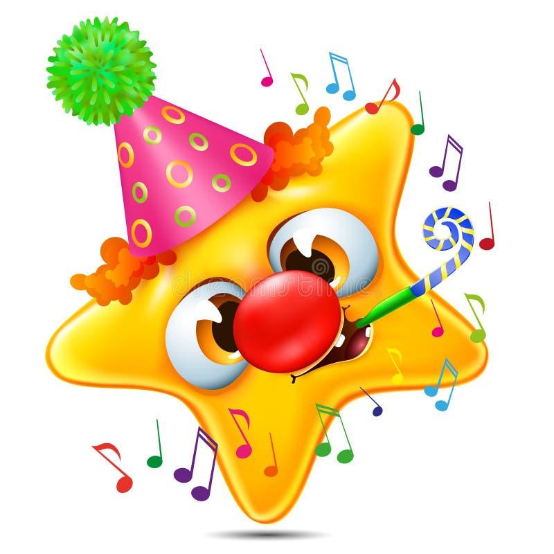 gwiazdowa emocja gratulująca na jego urodziny ilustracja wektor