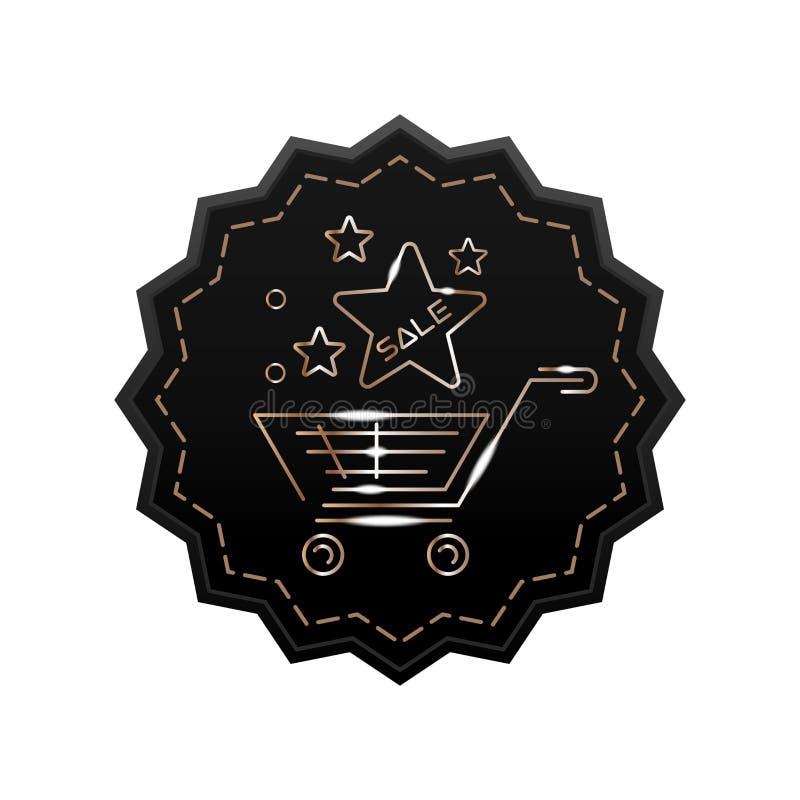 Gwiazdowa etykietka dla zakupów royalty ilustracja
