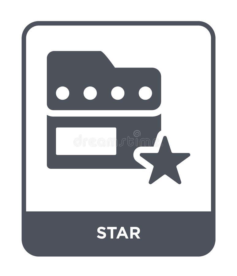 Gwiazdowa ikona w modnym projekta stylu Gwiazdowa ikona odizolowywająca na białym tle gwiazdowej wektorowej ikony prosty i nowoży royalty ilustracja