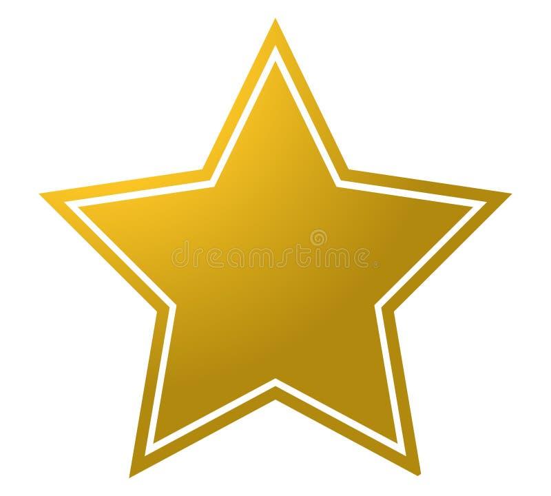 gwiazdowa kształt dekoracji nieba nagrody emblemata ikona na białym tle royalty ilustracja