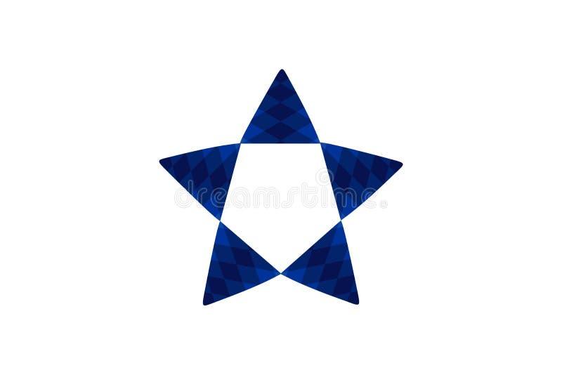 Gwiazdowa loga projekta inspiracja Odizolowywająca Na białych tło ilustracja wektor
