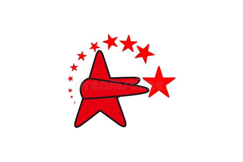 Gwiazdowa loga projekta inspiracja Odizolowywająca Na białych tło ilustracji