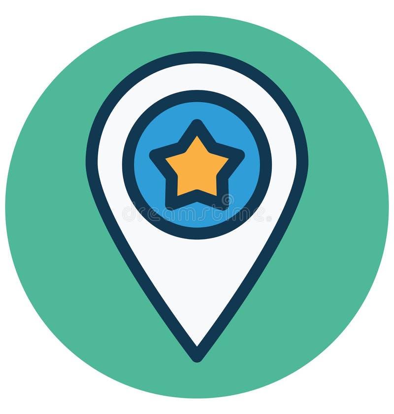Gwiazdowa lokacja, pupil Odizolowywał Wektorową ikonę która może łatwo redagować lub Modyfikować royalty ilustracja