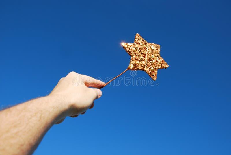 gwiazdowa magii różdżka zdjęcia stock