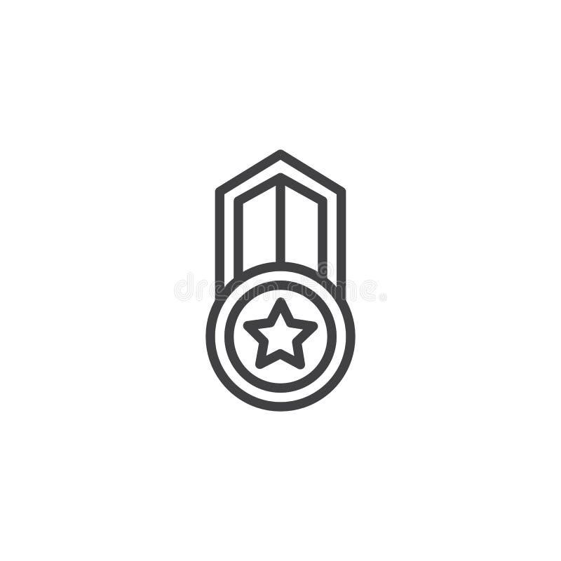 Gwiazdowa nagrody odznaki linii ikona royalty ilustracja