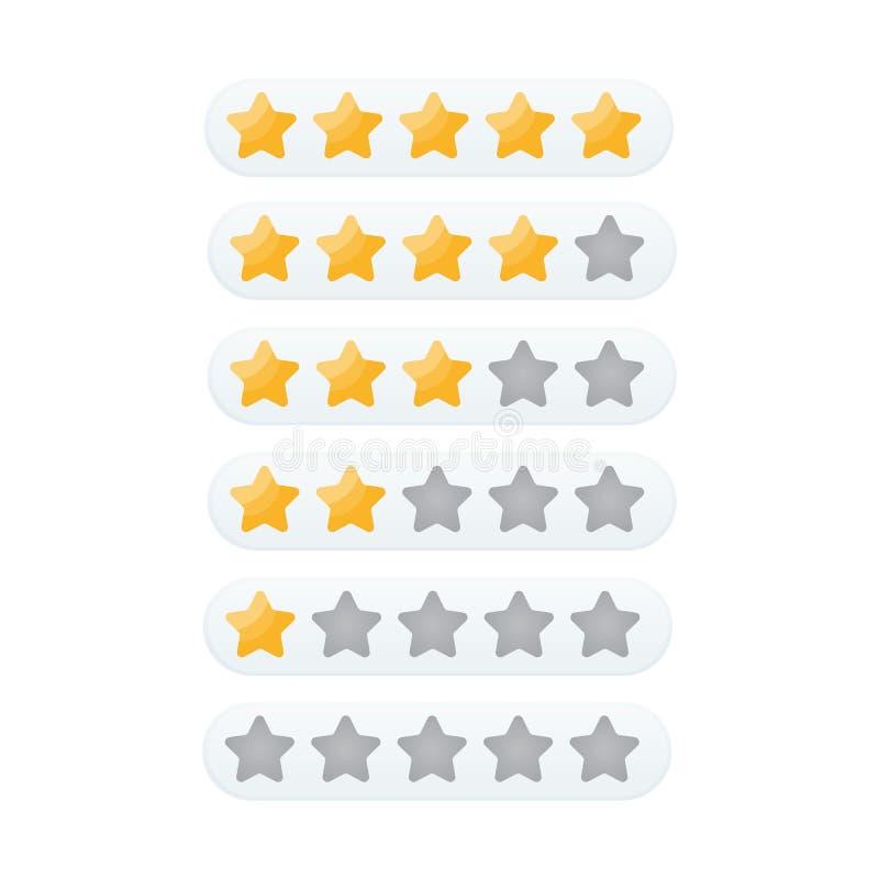 5 gwiazdowa ocena obraz stock