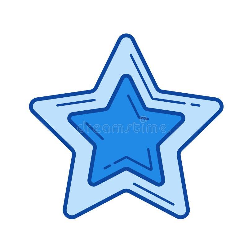 Gwiazdowa pupil linii ikona royalty ilustracja