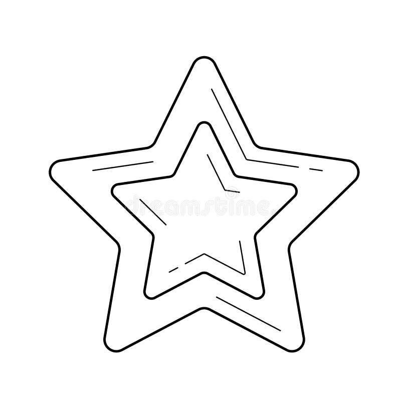 Gwiazdowa pupil linii ikona ilustracja wektor